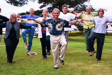 "Esalen Institute, 2006: This ""Crane Flying"" practice comes from Hua Tau's First century AD Five Animal Qigong Frolics --- good for increasing leg strength, balance, and lightening the heart."